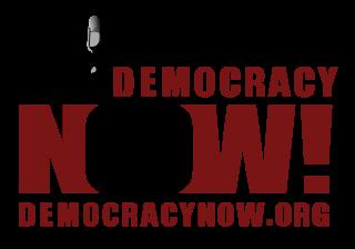 Democracy Now Statue of Liberty logo