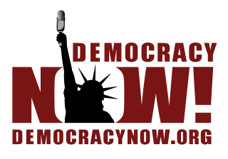 Democracy Now Statue of Liberty logo